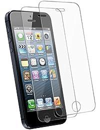 Tenmangu 2-Pack iPhone SE Film Protection d'écran,Verre trempé écran protecteur ultra résistant pour iPhone 5/5S/5C