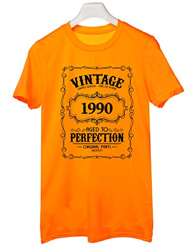 Tshirt 1990- idea regalo per compleanno - for birthday gift - Tutte le taglie by tshirteria Arancione