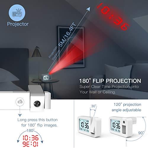 Zoom IMG-1 tedgem sveglia digitale con proiettore