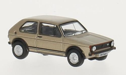 VW Golf I GTI, metallic-beige, RHD, 0, Modellauto, Fertigmodell, Oxford 1:76 Golf-oxford