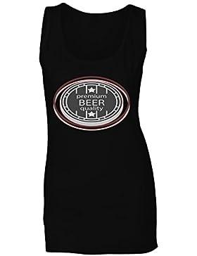 Mejor cerveza brewery vintage arte divertido camiseta sin mangas mujer d692ft