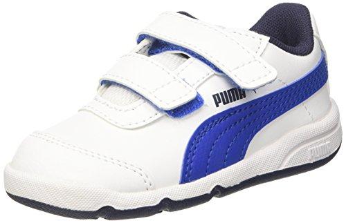 Puma Stepfleex 2 SL V Inf, Scarpe da Ginnastica Basse Unisex – Bambini, Bianco White-Turkish Sea-Peacoat, 21 EU