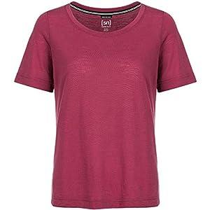 super.natural Dünnes Damen Kurzarm Shirt, Mit Merinowolle, W ESSENTIAL SCOOP TEE