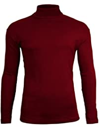 Brody & Co. Mens Roll Necks Polo Neck Tops Exclusively Plain Winter Ski Golf Quality Stretch Jersey Cotton
