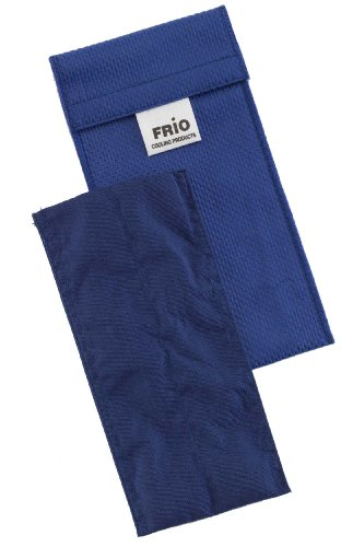 Geschlossene Kühlung (Frio Doppel Kühltasche für Insulin, 8 x 18 cm, blau)