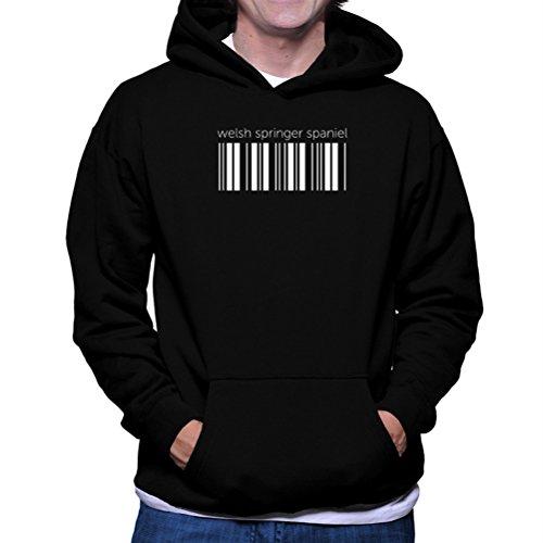 Felpe con cappuccio Welsh Springer Spaniel barcode