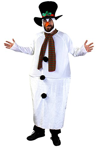 DIESES DICKE SCHNEEMANN KOSTÜM MIT KAROTTEN NASE IST DER ABSOLUTE KNALLER FÜR KARNEVAL ODER FASCHING =UNISEX (Nase Pinguin Kostüm)