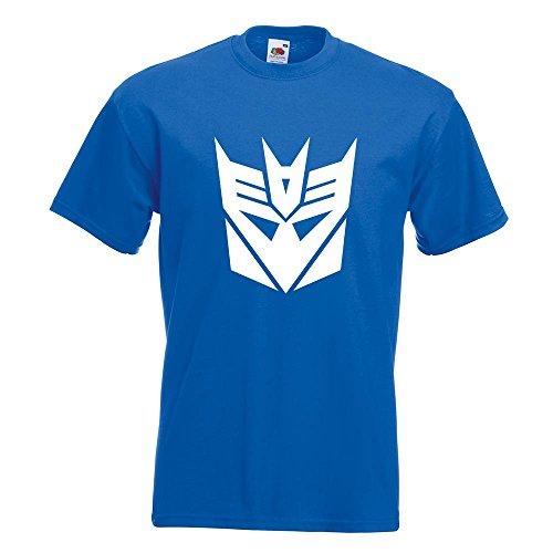 KIWISTAR - Transformers Decepticons T-Shirt in 15 verschiedenen Farben - Herren Funshirt bedruckt Design Sprüche Spruch Motive Oberteil Baumwolle Print Größe S M L XL XXL Royal