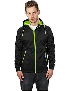 MAG Urban Classics TB147Contrast Windrunner chaqueta hombre Streetwear Windbreaker, XL