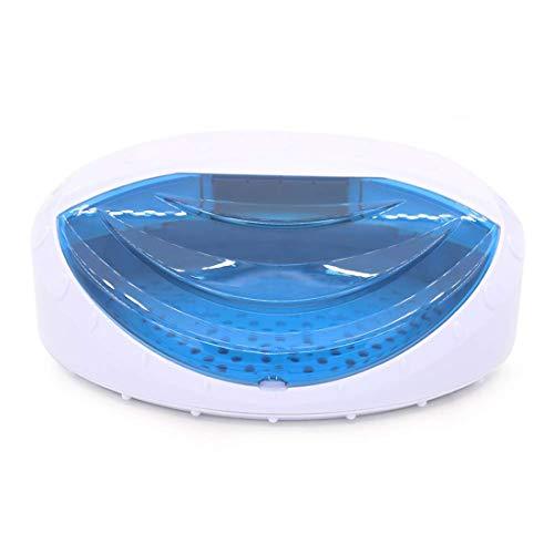Wensa UV Lampe Sterilisator Intelligent Desinfektion Box, mit transparentem Deckel Sterilisation Kabinett, für Maniküre-Werkzeuge, Handtuch, Nagel und Rasierer Cutter,B