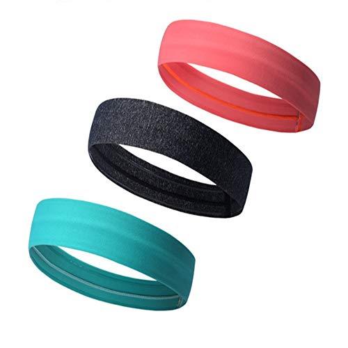 Glhkkp-sp Yoga Sport Stirnband Stirnbänder - 3 Stück Multi Color Stirnbänder - Perfekt zum Ausarbeiten, Laufen, Yoga & amp; Alle Aktivitäten - Stirnbänder für Frauen, Teens. für Männer und Frauen (Schöne Stirnbänder Für Teens)