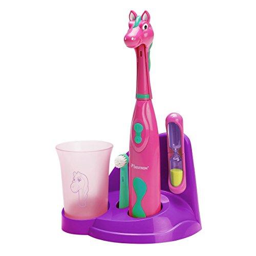 Bestron DSA3500P elektrische Kinderzahnbürste, rosa