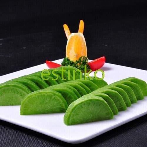 PLAT FIRM GERMINATIONSAMEN: Green Garden Raddish Seeds 60pcs / bag Grüne Rübe Gemüse Hausgarten Bonsai