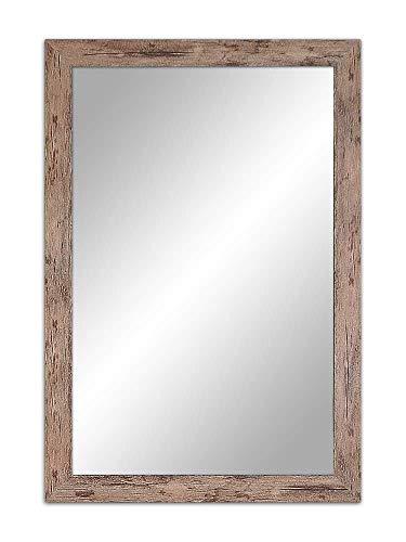 Ramix Spiegel mit Rahmen 57x47 cm,47x57 cm, 5 Farben Rahmen, Fester Rahmen, Stabiler Rückwand, Rahmenleiste: 40 mm breit und 18 mm hoch, Rahmen Farbe: braunes Holz