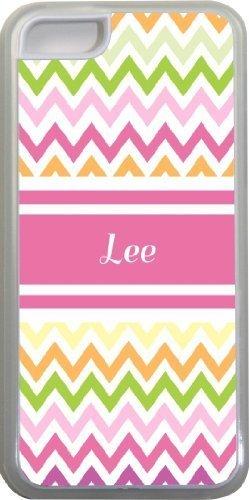 Lee Motif chevron Nom Rose iPhone 5C coque (Transparent) avec protection pare-chocs en caoutchouc pour Apple iPhone 5C Étui vendre sur zeng