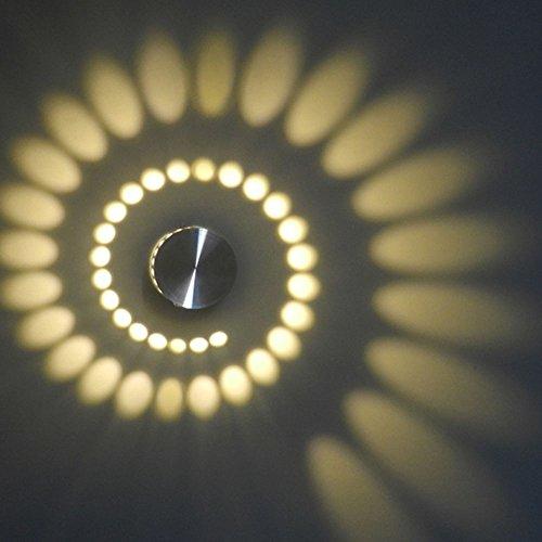 3W LED Wandleuchte Unterputz Rahmen Deckenleuchte Aluminium Effekt  Innenbeleuchtung Wand Leuchte/lampe Wandlampe Warmweiß