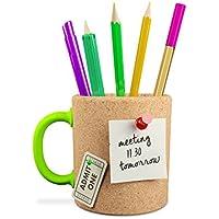 Mustard Memo Mug - Taza de corcho para lápices y notas