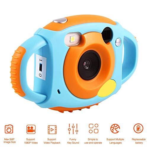 Topiky Kinder-Digital Kamera,1,8-Zoll-HD-Videokamera mit 4 Filtern 5 Megapixel-Unterstützung 32 GB Mini-SD-Karte Wunderbares Geschenk für Kinder(Blau)