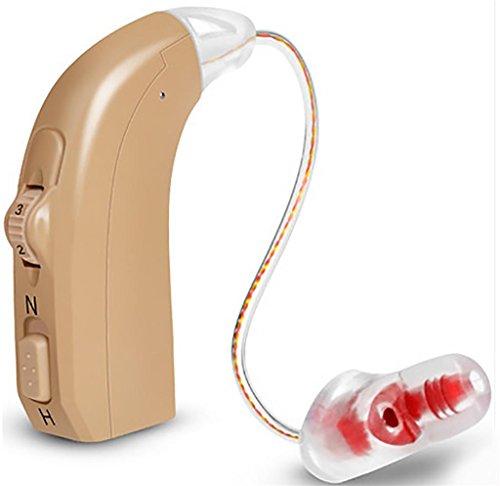 XUAN Sentendo amplificatore digitale Micro dietro il blu apparecchio acustico all'orecchio Sinistra orecchio destro rosso , red