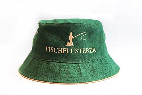 Preisvergleich Produktbild FISCHFLÜSTERER ® Mütze / Angelhut / Fischerhut - die ultimative Kopfbedeckung für alle Angler - grün