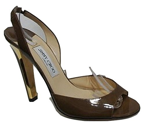Jimmy Choo Kandy Kan - Zapatos de Vestir para Mujer marrón Patent Latte Light Brown 41.5 8 UK