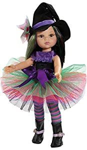 Paola Reina 74605Vestido con Zapatos para muñeca de 33cm Carla Bruja