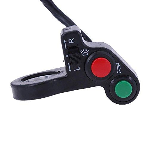 YouN 7/20,3cm moto ATV bici manubrio corno indicatore di direzione interruttore on/off luce