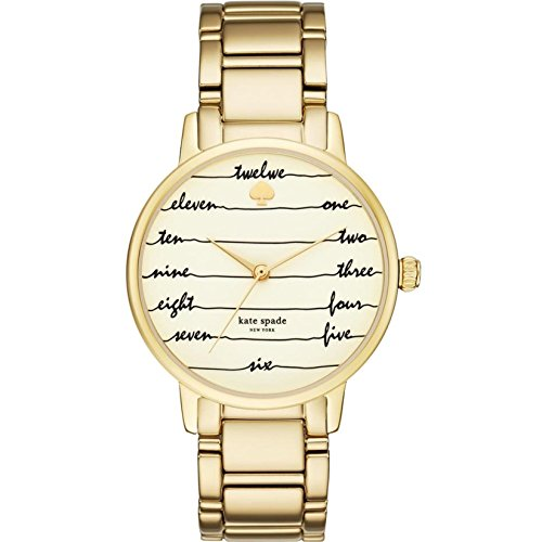 KATE SPADE WOMEN'S GOLD TONE STEEL BRACELET & CASE QUARTZ ANALOG WATCH KSW1060