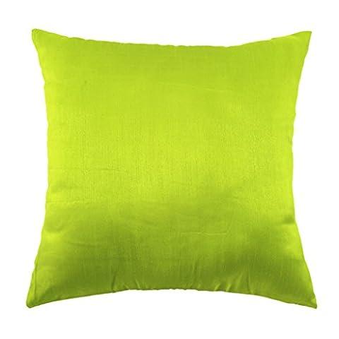 45x45cm Stoff Seide Kissenbezug Dekor Sofakissen Abdeckung Kissenbezug - Grün