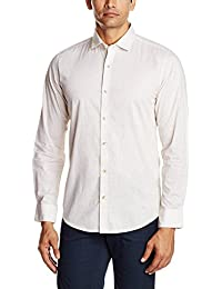 Peter England Men's Slim Fit Cotton Casual Shirt