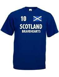 world-of-shirt Herren T-Shirt Schottland Bravehearts Trikot