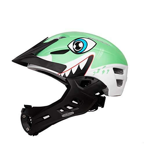Casco integrale da bambino skid casco integrale outdoor sports equipaggiamento di protezione / (color : green)