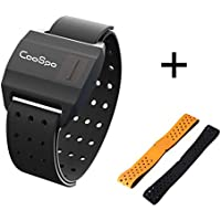CooSpo Heart Rate Armband Monitor Optical Heart Rate Monitor Bluetooth 4.0 ANT+ Waterproof - 1.15ft (35cm) or 1.25ft (38cm)