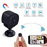 Mini Kamera WiFi, Lachesis WLAN Überwachungskamera Cam Full HD 1080P Tragbare Kleine mit Bewegungserkennung und Infrarot Nachtsicht für Innen, Aussen, Heim, Büro Sicherheit Mobile App Kontrolle
