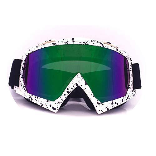 KnSam Winddicht Uv-Beständig Taktische Schutzbrille Kratzfester Scheibe Panoramablickfeld Weiß Schwarz Bunt Schutzbrille