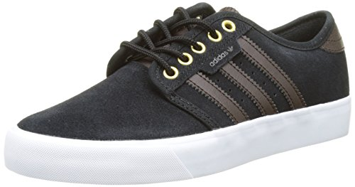 adidas Seeley, Chaussures de Skateboard Mixte Adulte Noir (Core Black/Dark Brown/Ftwr White)
