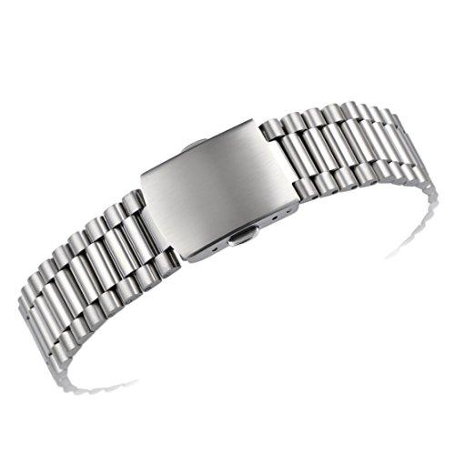 20 mm lusso elegante in acciaio inossidabile 316L cinturini per orologi in metallo sostituzione fibbia deployante fine rettilineo