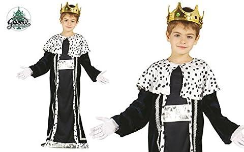 König Balthasar Kostüm für Kinder Krippenspiel die heiligen drei Könige Kirche Weihnachten Gr. 98-146, (Krippenspiel König Kostüm)