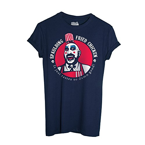 MUSH T-Shirt Rob Zombie Captain Spaulding Movie - Film by Dress Your Style - Herren-XXL-Blau
