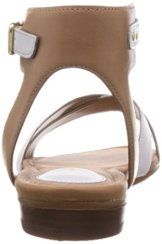Clarks - Viveca Zeal, Sandali Donna Bianco (White Leather)