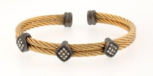 mundo-plata-mujer-doble-de-acero-inoxidable-cable-con-puno
