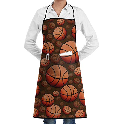 apron sky Bib Schürze with 2 Pockets Basketball Mode Extra Long Ties Kitchen Schürzes for Women and Men, Resistant to Droplets Schürzes with pockets 2 Pocket-lab