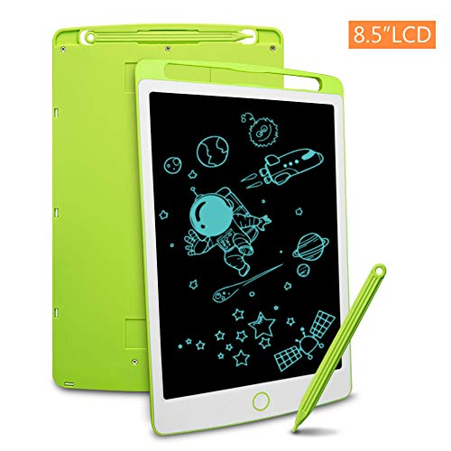 Richgv LCD Writing Tablet with Stylus, 8.5 Inch Digital Ewriter Electronic Graphic Drawing Tablet Erasable Portable Doodle Mini Board Memo Notepad for kids Learning Birthday Gifts(Green)