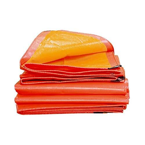 Orange 8x10 Bereich (Plane Mit Ösen Verschleißfest Dauerhaft Sonnencreme Regenfest Stoff LKW Abdeckung Draussen Camping Warenhaus Seebrücke Ladung Transport Markisen ZXZIXI (Color : Orange, Size : 8x10m))