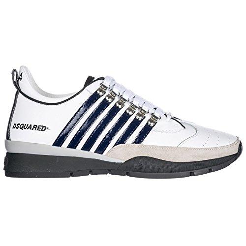 Dsquared2 Herrenschuhe Herren Leder Schuhe Sneakers 251 Weiß EU 43 SNM0101 01500452 M313