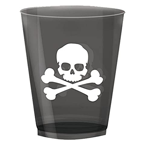 Crossbones Plastic Tumblers, pack of 16