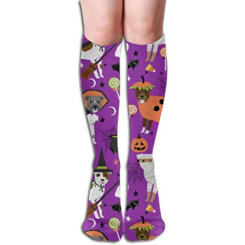 stume Dog - Cute Dogs In Costume Halloween Design Candy Corn, Candy, Funny Pet- Purple Men's Women's Cotton Crew Athletic Sock Running Socks Soccer Socks 60cm ()