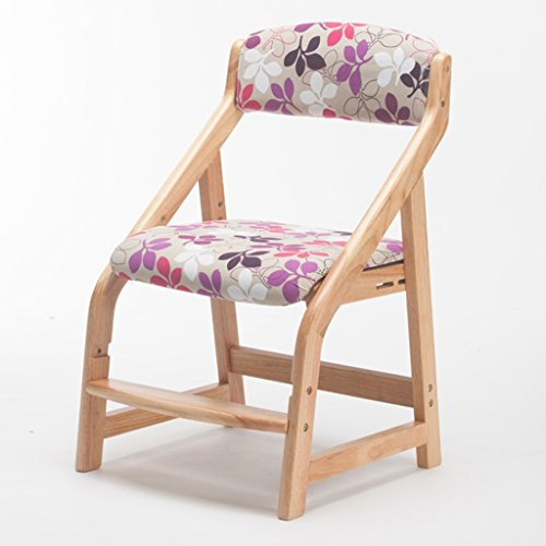 ERRU-Chaises Chaise réglable Chaise de table à manger en bois massif chaise Chaises de ménage (2Colors, 46 * 49.5 * 77cm) (Couleur : A)