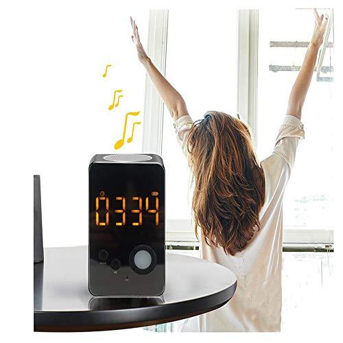 LJYFST Nachttischlampe, Berührungsempfindlicher Bluetooth-Lautsprecher für Nachtlicht, Tragbarer Digitaler USB-Wecker, Dimmbarer Digitaler Wecker, FM-Radio für Damen/Herren/Kindergeschenke Digital-message-system