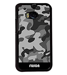 Fuson Millitary Pattern Back Case Cover for HTC ONE M8 - D3683